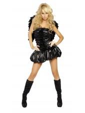 Vuxen Sexiga Svart Ängel Kostym
