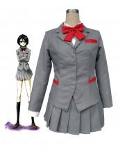 Bleach Kuchiki Rukia skoluniform Cosplay Kostymer